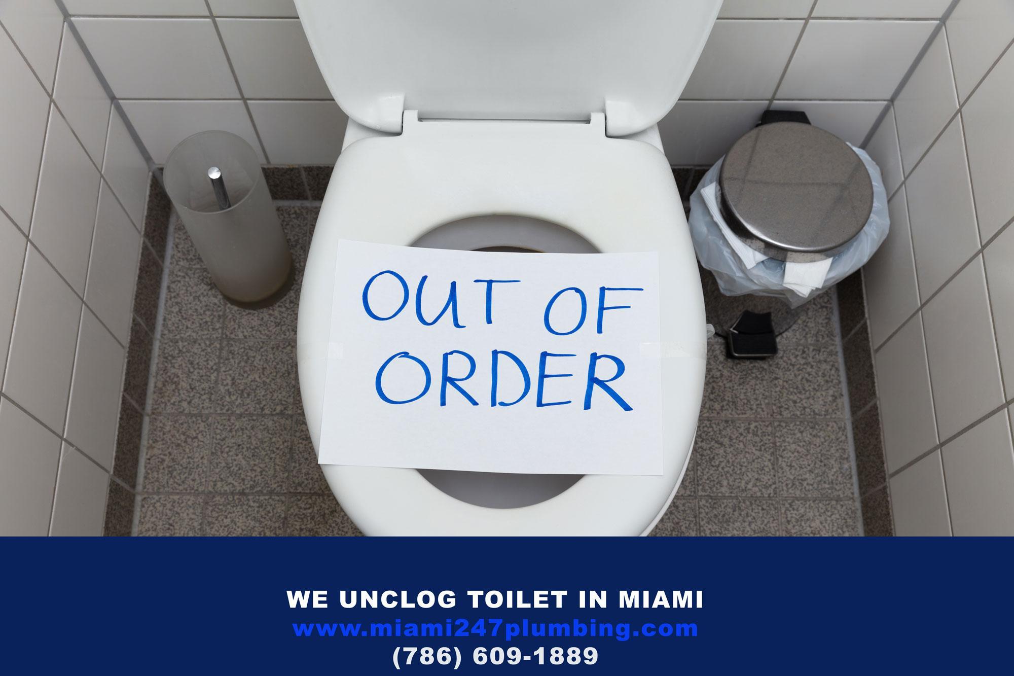 Unclog Toilet in Miami