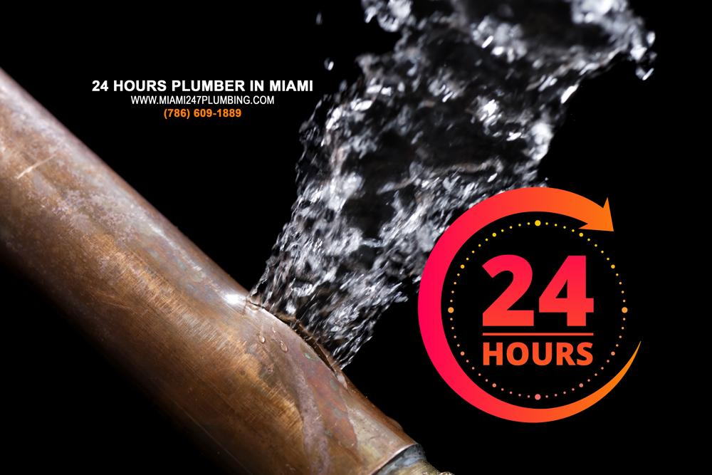 24 hours plumber in Miami
